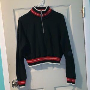 Cropped GARAGE fleece jacket